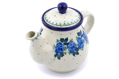 20 oz Tea Pot - Bendikas Floral | Polish Pottery House