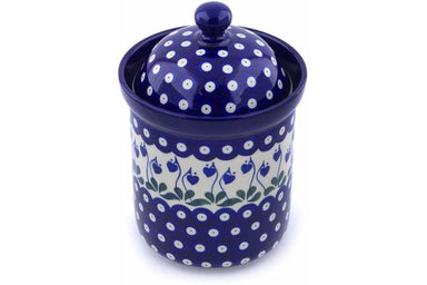 5 cup Canister - Blue Bell | Polish Pottery House