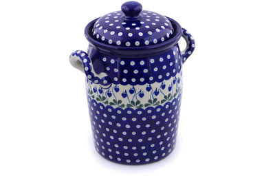 19 cup Canister - Blue Bell | Polish Pottery House
