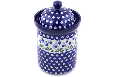 6 cup Canister - Blue Bell | Polish Pottery House