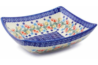 4 cup Square Bowl - P9331A | Polish Pottery House