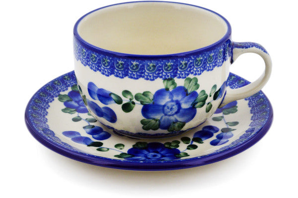9 oz Cup with Saucer - Heritage | Polish Pottery House