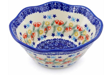 4 cup Fluted Bowl - P9331A | Polish Pottery House