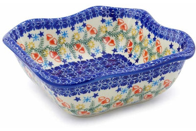 5 cup Square Bowl - P9331A | Polish Pottery House