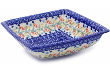 7 cup Square Bowl - P9331A | Polish Pottery House