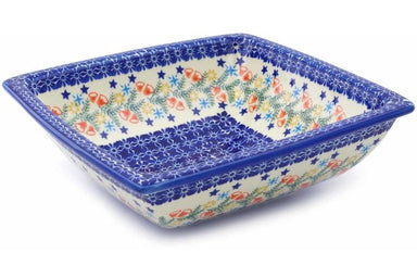 10 cup Square Bowl - P9331A | Polish Pottery House