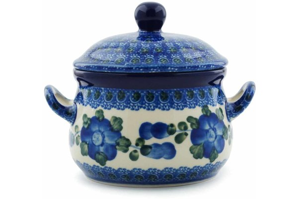 11 oz Soup Cup with Lid - Heritage | Polish Pottery House