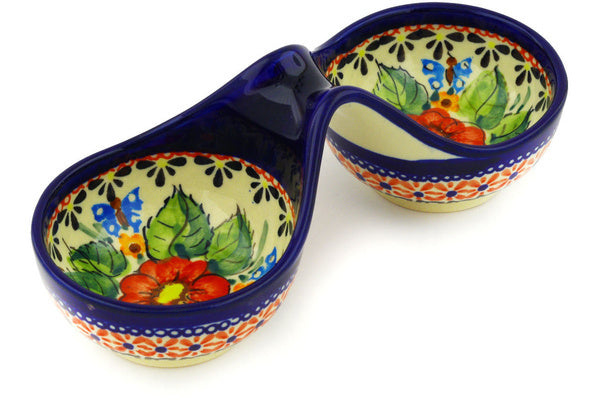 "7"" Condiment Server - Butterfly Garden 