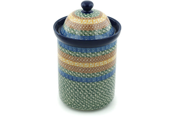 8 cup Canister - Blue Autumn | Polish Pottery House