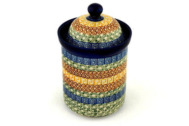 4 cup Canister - Blue Autumn | Polish Pottery House