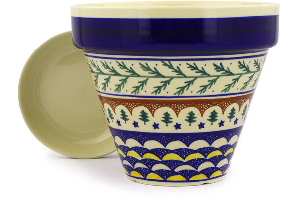 "8"" Flower Pot - Evergreen 