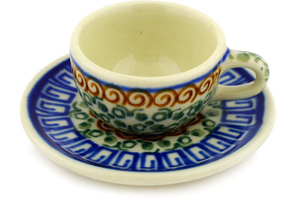 "1"" Miniature Cup and Saucer - Autumn 