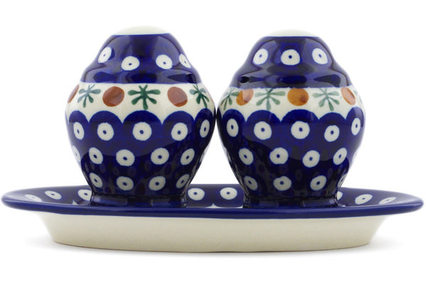 "4"" Salt and Pepper Shakers - Blue Old Poland 