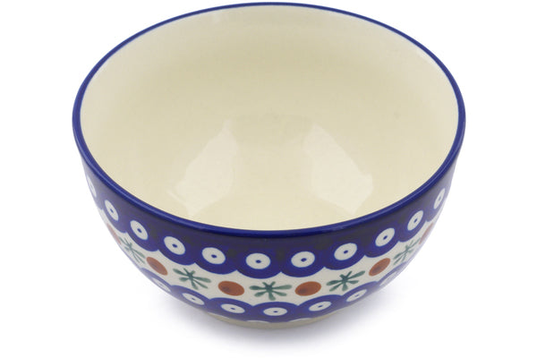 15 oz Dessert Bowl - Blue Old Poland | Polish Pottery House