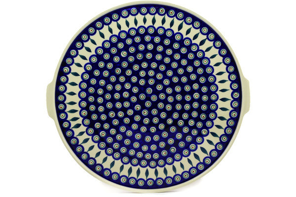 "16"" Pizza Plate - Peacock 