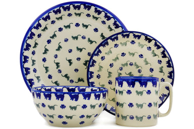 Place Setting - Cats on Parade | Polish Pottery House