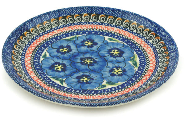 "8"" Salad Plate - Blue Bouquet 