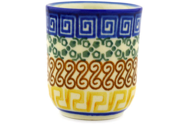 2 oz Espresso Cup - Blue Autumn | Polish Pottery House
