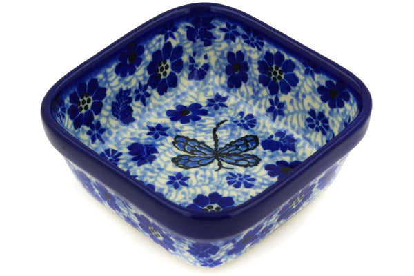 6 oz Condiment Bowl - Dragonfly | Polish Pottery House