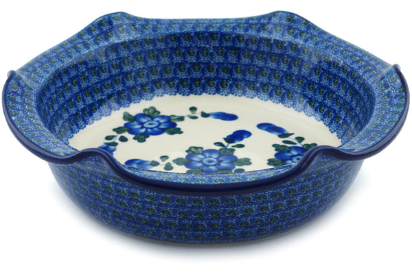6 cup Scalloped Bowl - Heritage | Polish Pottery House