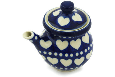 5 oz Creamer with Lid - Hearts | Polish Pottery House