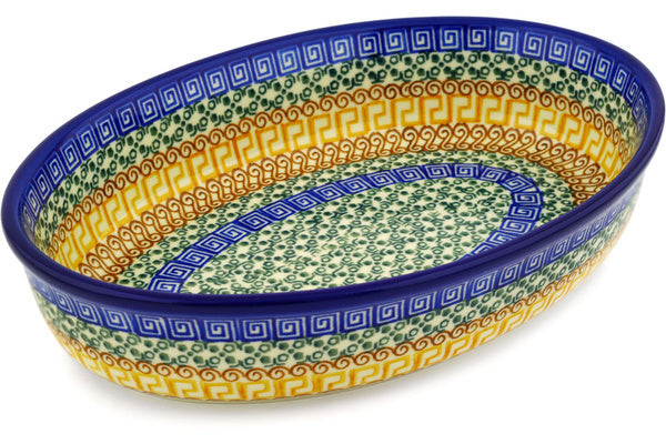 "11"" Oval Baker - Blue Autumn 