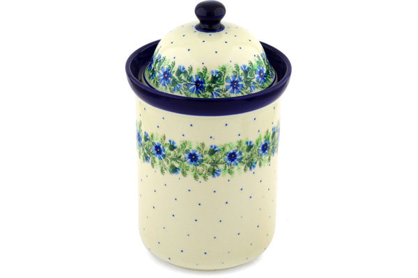 8 cup Canister - Cornflower | Polish Pottery House