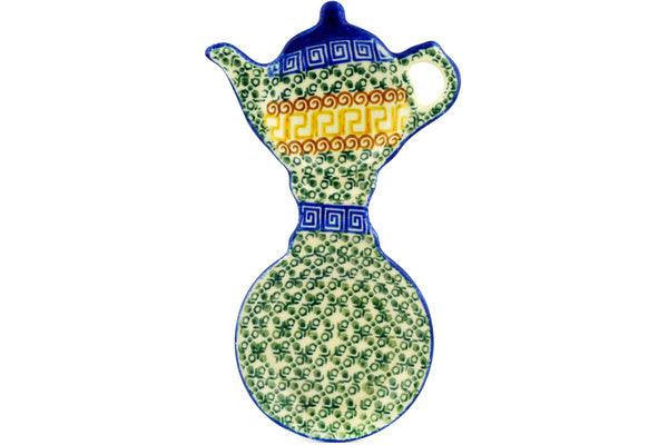 "8"" Tea Bag Holder - Blue Autumn 