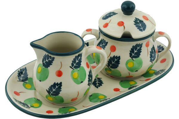 Sugar Bowl and Creamer Set - 1103Q | Polish Pottery House