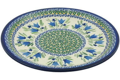 "11"" Dinner Plate - Blue Tulips 