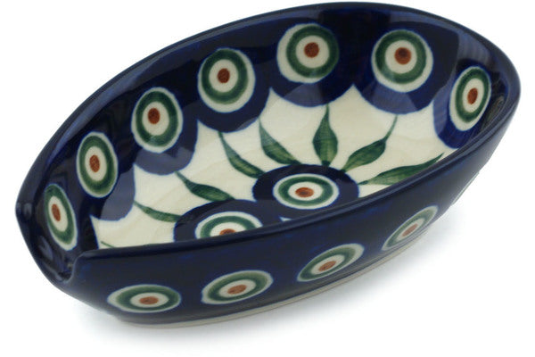 "5"" Spoon Rest - Blue Peacock 