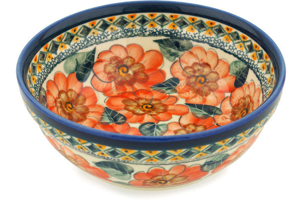 18 oz Cereal Bowl - Coral Blossom | Polish Pottery House