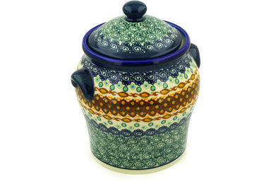 8 cup Cookie Jar - Nantucket | Polish Pottery House