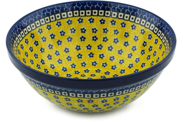 8 cup Serving Bowl - Blue Sunshine | Polish Pottery House