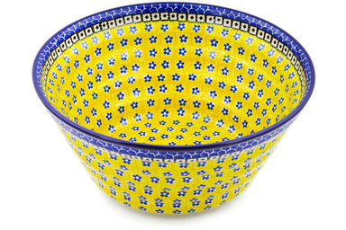 15 cup Serving Bowl - Blue Sunshine | Polish Pottery House
