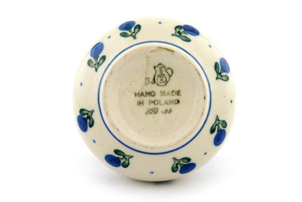 7 oz Sugar Bowl - Blue Buds | Polish Pottery House