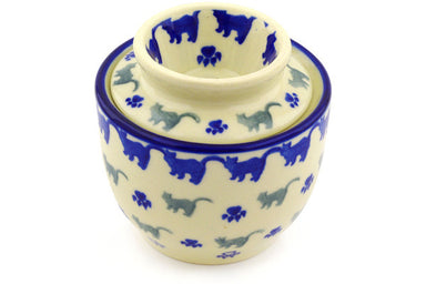 "4"" Butter Dish - Cats on Parade 