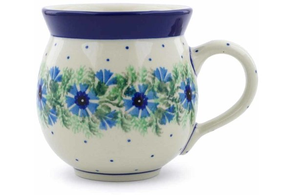 12 oz Bubble Mug - Cornflower | Polish Pottery House