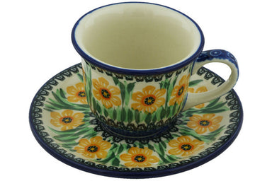 6 oz Cup with Saucer - U1303 | Polish Pottery House