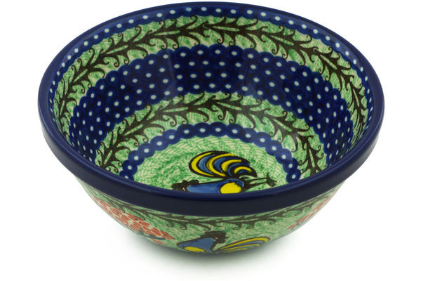 3 cup Cereal Bowl - Blue Rooster | Polish Pottery House
