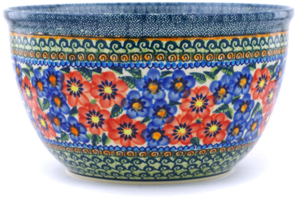 21 cup Serving Bowl - Cottage Garden | Polish Pottery House