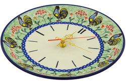 "11"" Clock - Blue Rooster 