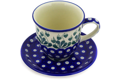 10 oz Cup with Saucer - 377PX | Polish Pottery House