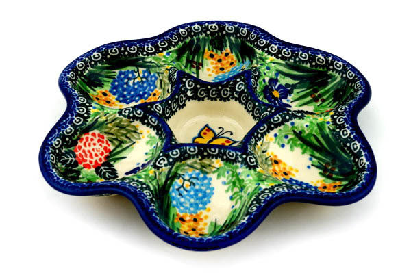 "8"" Egg Plate - Spring Garden 