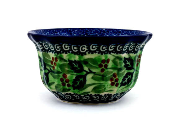 6 oz Fluted Bowl - Spring Garden | Polish Pottery House