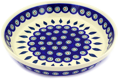 "10"" Pie Plate - Peacock 