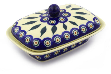 "7"" Butter Dish - Peacock 