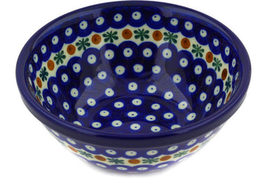 3 cup Cereal Bowl - Blue Old Poland | Polish Pottery House