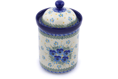 6 cup Canister - P9028A | Polish Pottery House