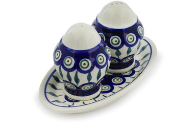 "4"" Salt and Pepper Shakers - Peacock 